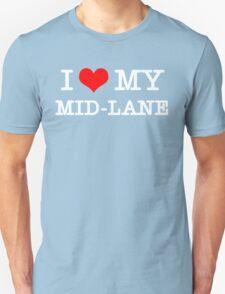 I Love My MID-LANE  [Black] Unisex T-Shirt