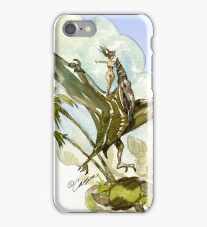 Pterodactyl Ride iPhone Case/Skin
