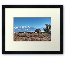 Old homestead in San Luis Valley Colorado Framed Print