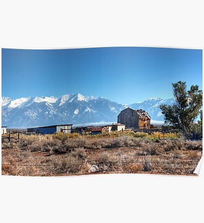 Old homestead in San Luis Valley Colorado Poster