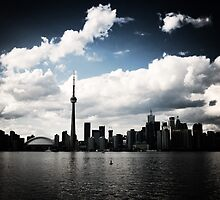Toronto Skyline Blue by Rob Smith