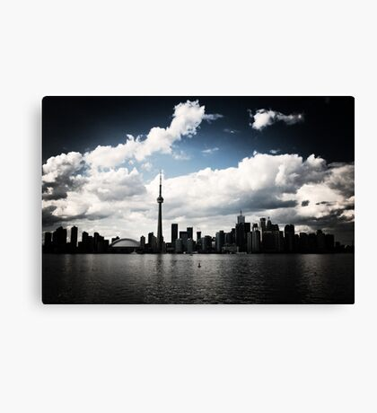 Toronto Skyline Blue Canvas Print