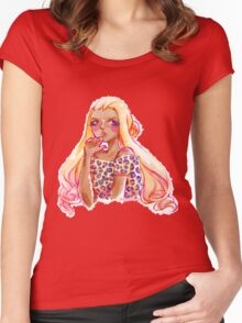 Inky Gyaru Women's Fitted Scoop T-Shirt