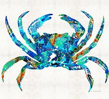 Blue Crab Art by Sharon Cummings by Sharon Cummings