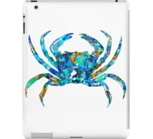 Blue Crab Art by Sharon Cummings iPad Case/Skin
