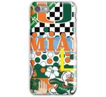 UNIVERSITY OF MIAMI COLLAGE iPhone Case/Skin