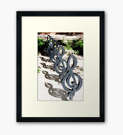 Treble Clefs Framed Print