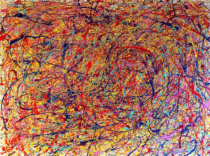 "jackson pollock freedom and originality Summary: students will make a dripping paint ""action"" painting in the style of jackson pollock objectives: identification: students will be directed to observe the lines and shapes that make up an ""action"" painting."