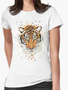 Tiger Dots Womens Fitted T-Shirt