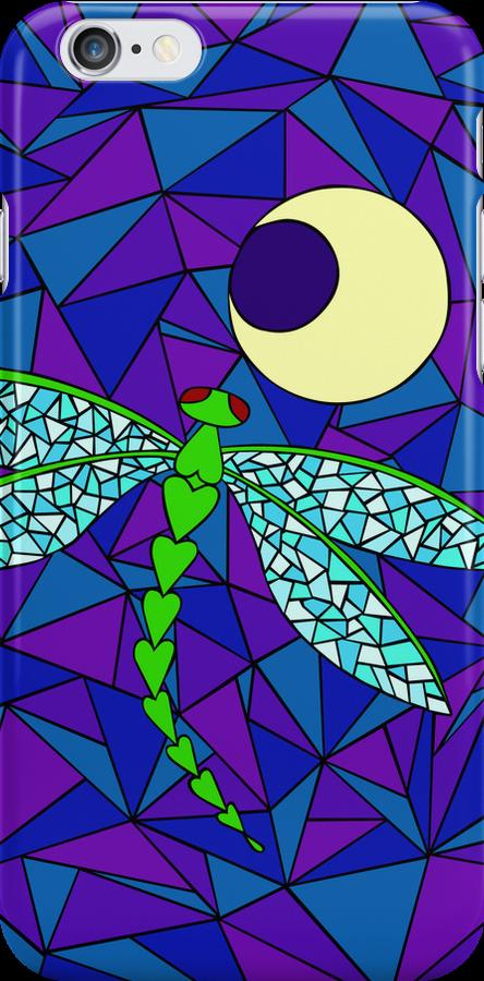 Dragonfly Moon (iPhone) by Rhonda Blais