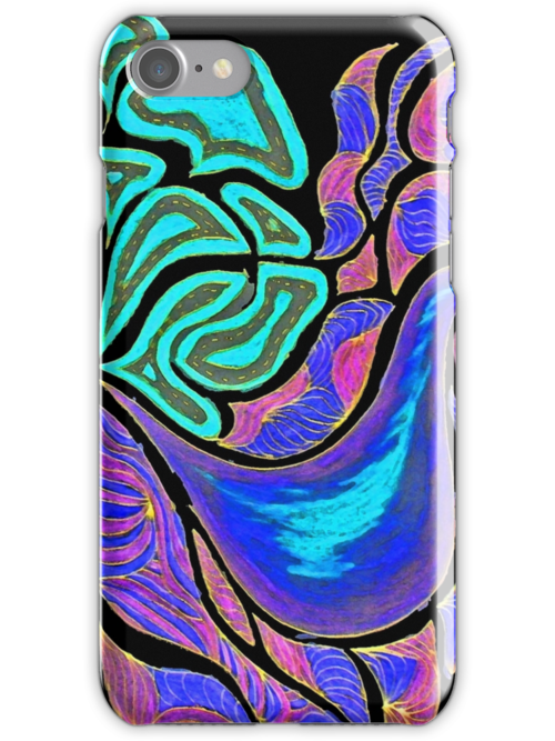 iPhone Case of drawing...Precious Posie... by linmarie