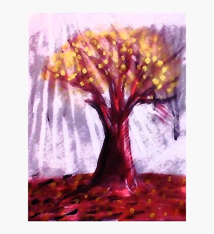 The Old tree, watercolor Photographic Print