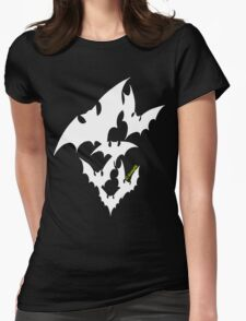 Going Batty (white) Womens Fitted T-Shirt