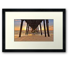 Sunset at Grange Jetty October 2011 Framed Print