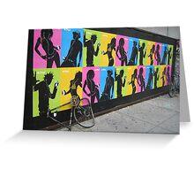 iPod Biking Greeting Card