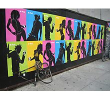 iPod Biking Photographic Print
