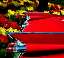 """1959 Cadillac """"Tulips and Tail Lights"""" by TeeMack"""