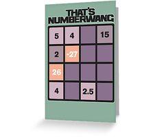 numberwang Greeting Card