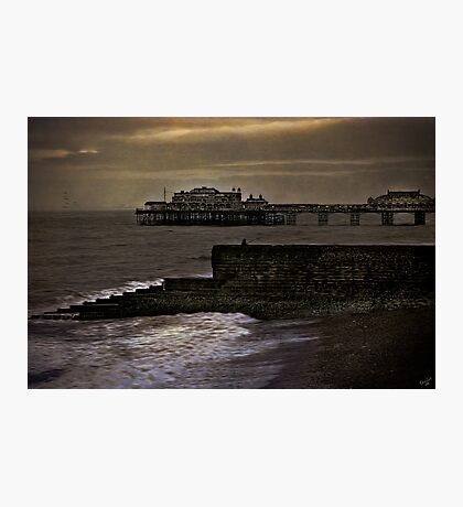Fishing In Brighton  Photographic Print