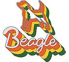 Retro Beagle Photographic Print