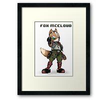 Fox McCloud - Pixelized w/ Laser Framed Print