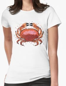 Crab Dots Womens Fitted T-Shirt
