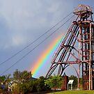 Rainbow Headframe by Ruth Anne  Stevens
