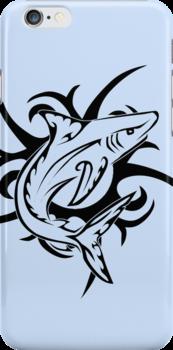 Tribal Shark 3 by Rhonda Blais