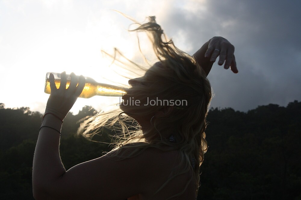 Crazy Beer Hair by Julie Johnson