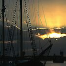 Sunset at the Port by Gillian Bates