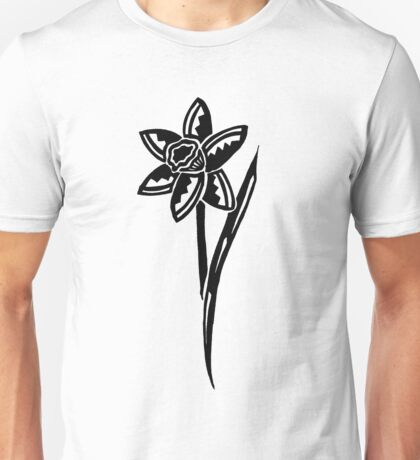 Daffodil Tribal Design Unisex T-Shirt