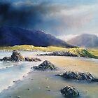 Storm over Renvyle Beach by Roman Burgan