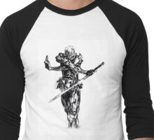 Grey fox draw from metal gear solid Men's Baseball ¾ T-Shirt