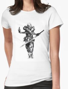 Grey fox draw from metal gear solid Womens Fitted T-Shirt