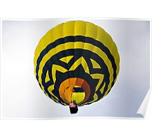 Flame Up in the Big Blue and Yellow Balloon  Poster