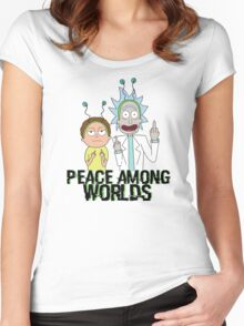 Peace Among Worlds Women's Fitted Scoop T-Shirt