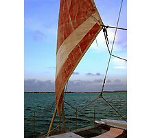 Sunset Sail in Aruba  Photographic Print