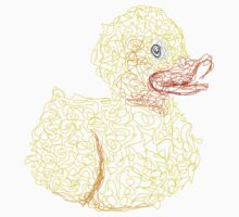 Styled Duck with Lines Kids Clothes