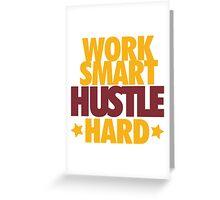 Work Smart Hustle Hard- Cavs Greeting Card