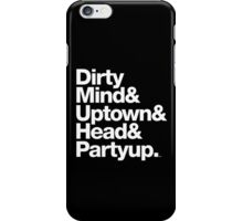 Homage to Prince Dirty Mind Album & Tracks  iPhone Case/Skin