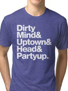 Homage to Prince Dirty Mind Album & Tracks  Tri-blend T-Shirt