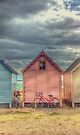 Beach Huts at Mersea Island by Nigel Bangert
