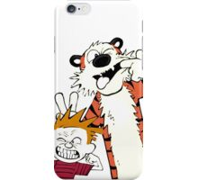 Calvin and hobbes Hai day... iPhone Case/Skin