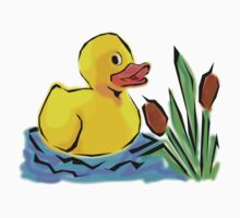 Cute Duck in a Small Pond Kids Clothes