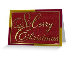 Red and Gold Christmas Card Greeting Card