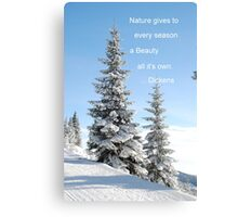 Fir Tree In Snow Canvas Print