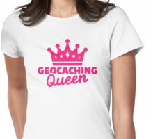 Geocaching Queen Womens Fitted T-Shirt