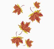 Falling Leaves  Kids Tee