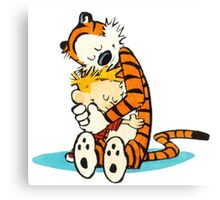 Calvin and hobbes Love you Canvas Print