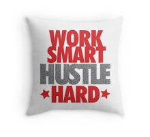 Work Smart Hustle Hard- Speckled Throw Pillow